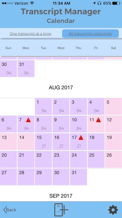 5.5-Inch Display iPhone Calendar